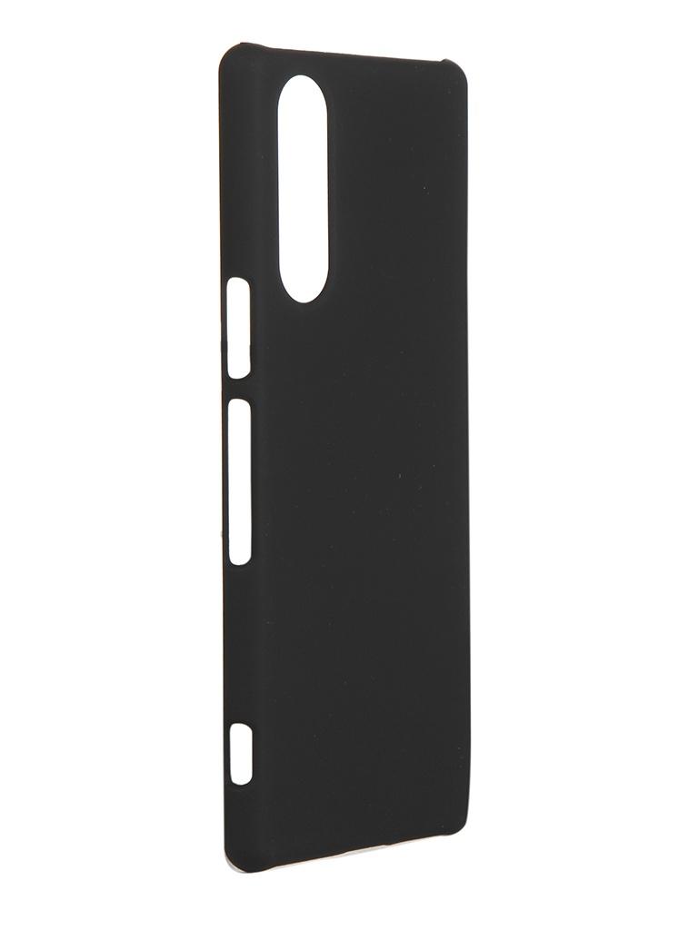 Чехол Brosco для Sony Xperia 5 Black 5-SOFTTOUCH-BLACK чехол для sony h4113 xperia xa2 brosco накладка розовый