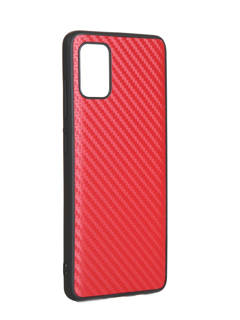 Купить Чехол G-Case для Samsung Galaxy A51 SM-A515F Carbon Red GG-1204
