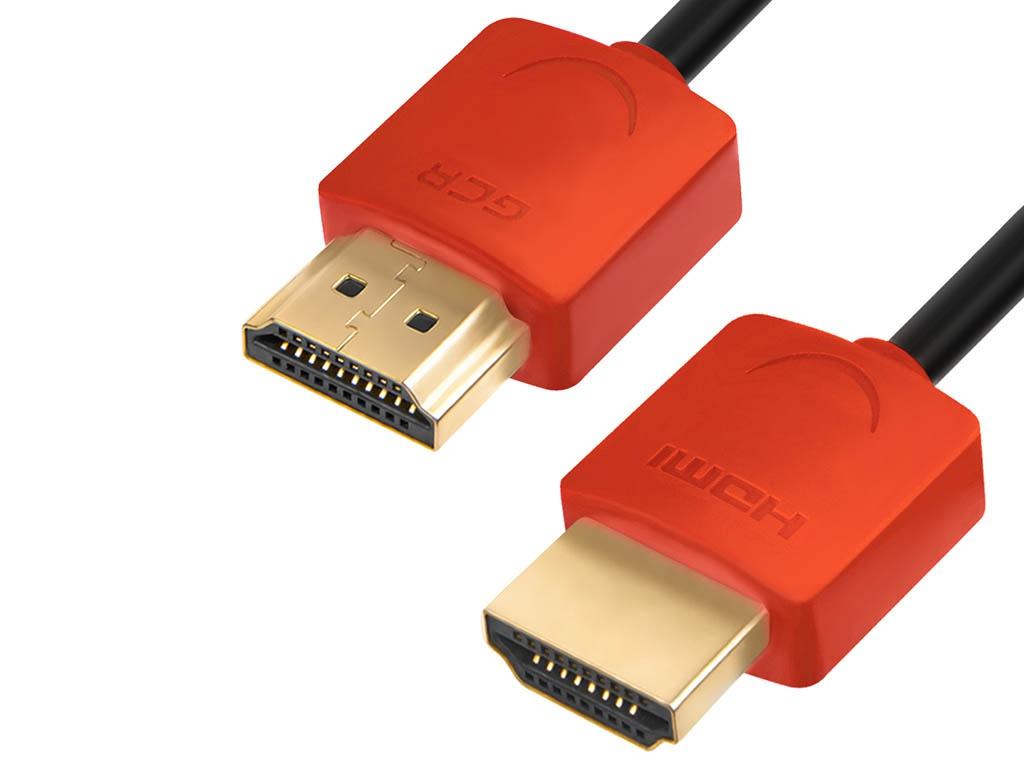 Фото - Аксессуар GCR Slim HDMI v2.0 1m Red GCR-51213 аксессуар gcr hdmi m m v2 0 1m black red gcr hm451 1 0m
