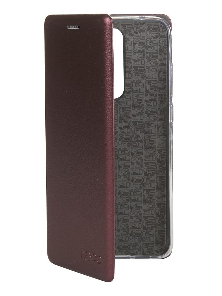 Чехол Neypo для Xiaomi Redmi Note 8 Pro Premium Bordo NSB15396