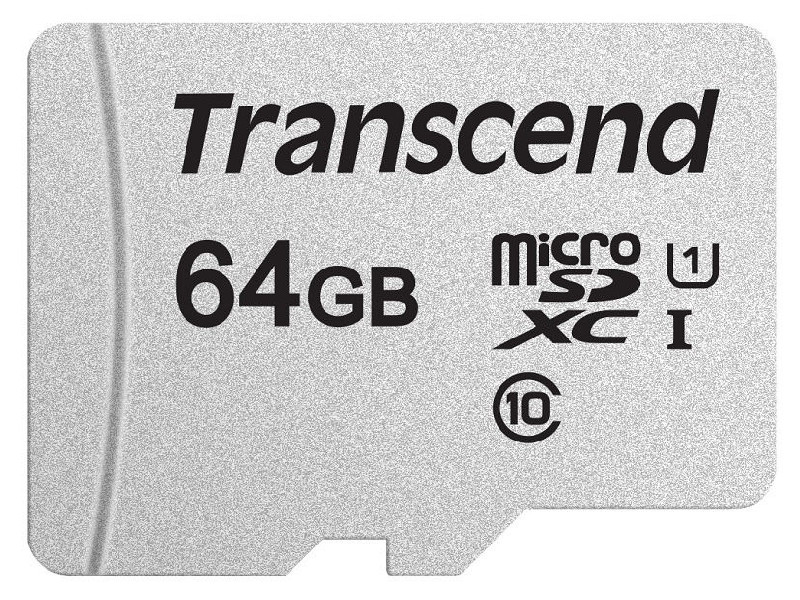 Фото - Карта памяти 64Gb - Transcend 300S MicroSDHC Class 10 UHS-I TS64GUSD300S карта памяти sdhc 32gb transcend class10 uhs i