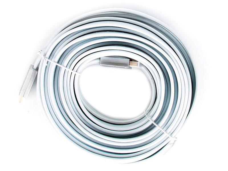 Фото - Аксессуар AOpen HDMI 19M v2.0 10m Silver-White ACG568F-S-10M кольца караваевская ювелирная фабрика 51 0036 s