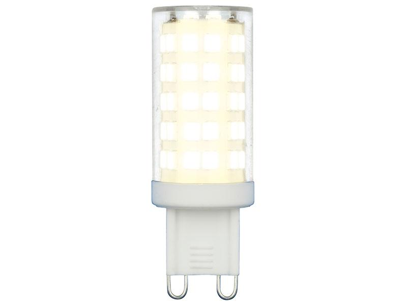 Лампочка Uniel LED-JCD-9W/3000K/G9/CL GLZ09TR UL-00006488