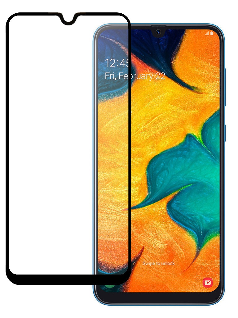 Защитное стекло Pero для Samsung Galaxy A30 / A50 / A30s Full Screen Cover Full Glue Black PGFG-A30