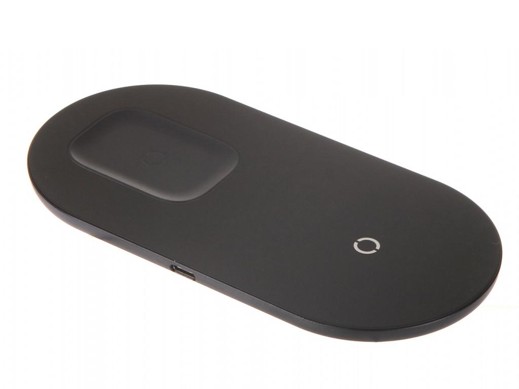 Фото - Зарядное устройство Baseus Simple 2in1 Wireless Charger Pro Edition For Phones + Pod Black WXJK-C01 зарядное устройство baseus removable 2in1 universal travel adapter pps quick charger edition tzpps 01