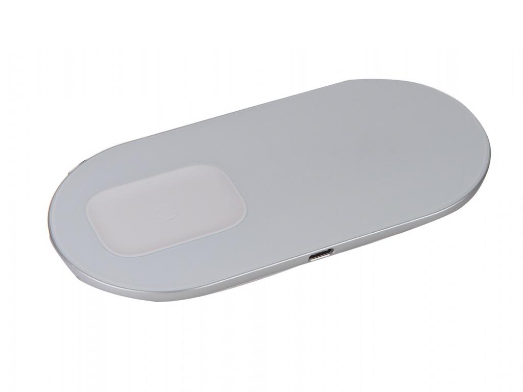Фото - Зарядное устройство Baseus Simple 2in1 Wireless Charger Pro Edition For Phones + Pod White WXJK-C02 зарядное устройство baseus removable 2in1 universal travel adapter pps quick charger edition tzpps 01