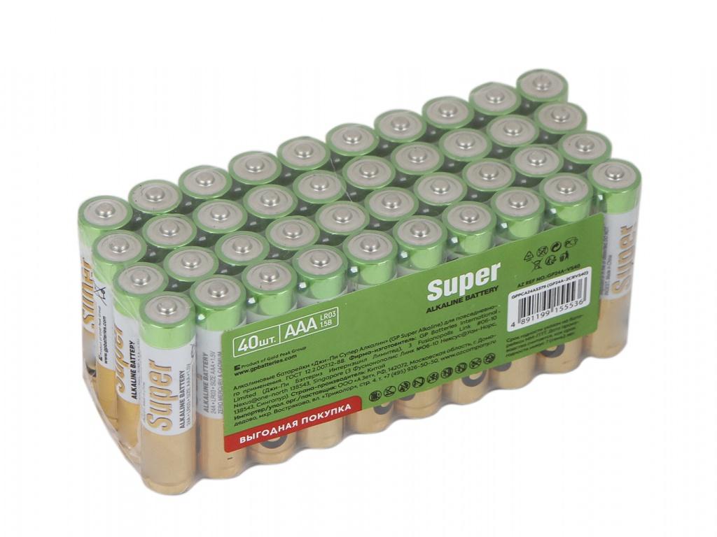 Батарейка AAA - GP Super Alkaline 24A-2CRVS40 (40 штук)