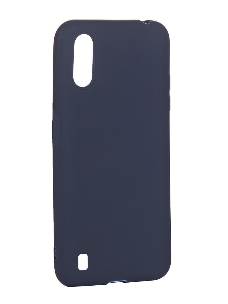 Чехол Zibelino для Samsung Galaxy A01 Soft Matte Dark Blue ZSM-SAM-A01-DBLU