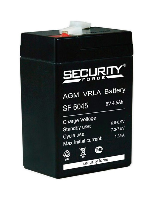 Аккумулятор Security Force 6V 4.5Ah SF 6045