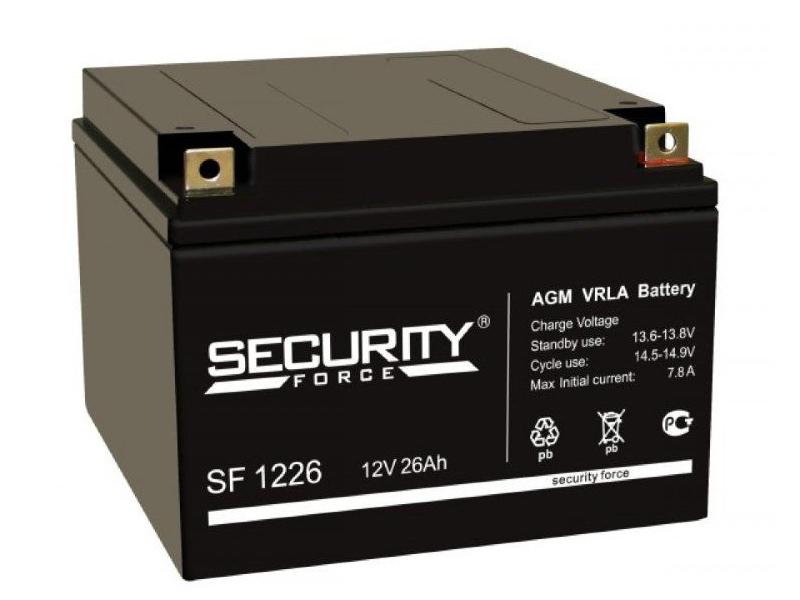 Аккумулятор Security Force 12V 26Ah SF 1226