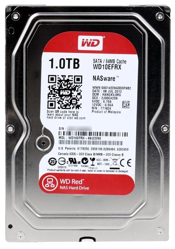 Жесткий диск Western Digital Caviar 1Tb Red WD10EFRX