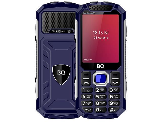 Сотовый телефон BQ 2817 Tank Quattro Power Blue мобильный телефон bq bq 2812 quattro power black