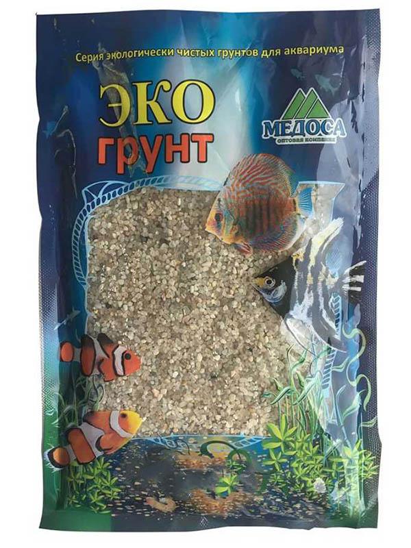 Натуральный кварцевый грунт Эко грунт Куба-XL 2.0-5.0mm 1kg 500048
