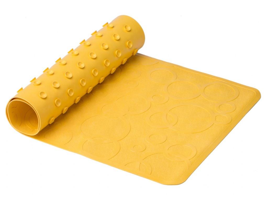 Антискользящий резиновый коврик для ванны Roxy-Kids 35x76cm Yellow BM-M188-1Y roxy kids коврик roxy kids для ванны антискользящий резиновый 35 76 см желтый