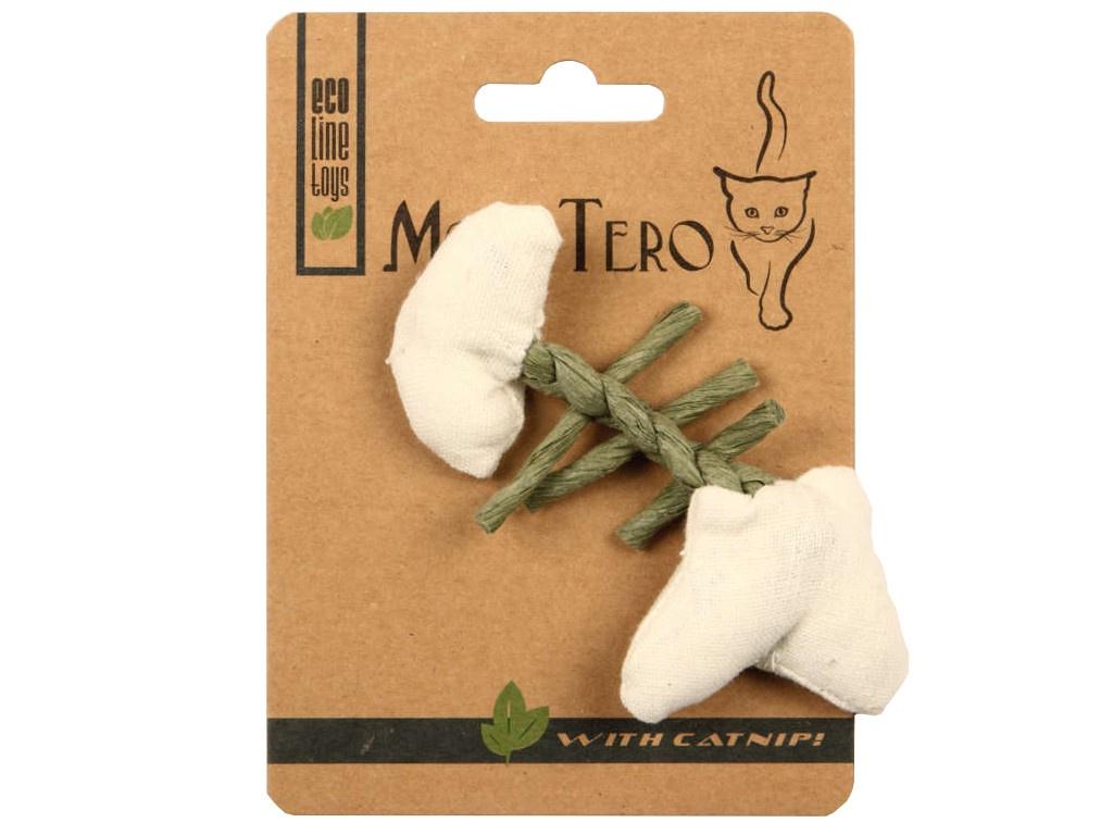 Игрушка для кошек Mon Tero Эко рыбья кость с кошачьей мятой White 51460