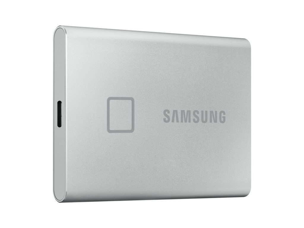 Фото - Твердотельный накопитель Samsung External SSD 1Tb T7 Touch PCIe USB3.2/Type-C Silver MU-PC1T0S/WW samsung t5 1tb mu pa1t0r ww красный