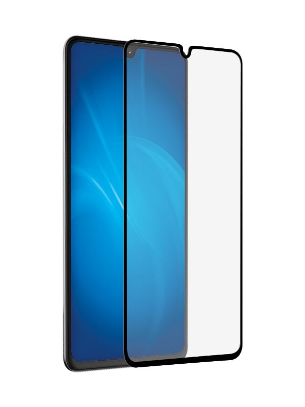 Закаленное стекло DF для Samsung Galaxy A41 Full Screen + Full Glue Black Frame sColor-96