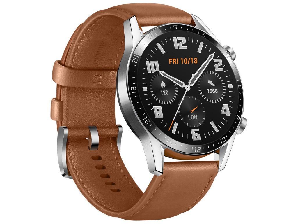 Умные часы Huawei Watch GT 2 Classic 46mm, Latona-B19V Pebble Brown 55024334 Выгодный набор + серт. 200Р!!! умные часы huawei watch gt 2e hector b19c 46mm black mint 55025294 выгодный набор серт 200р