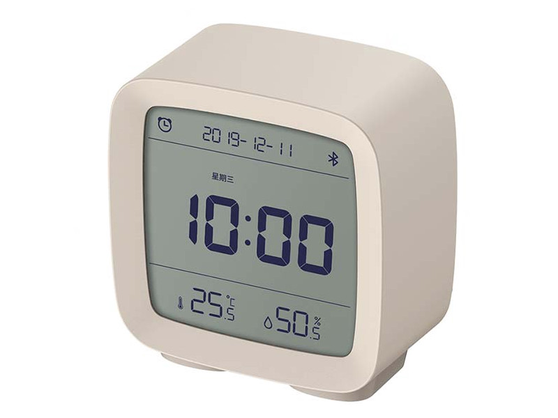 Часы Xiaomi ClearGrass Bluetooth Thermometer Alarm Clock CGD1 White