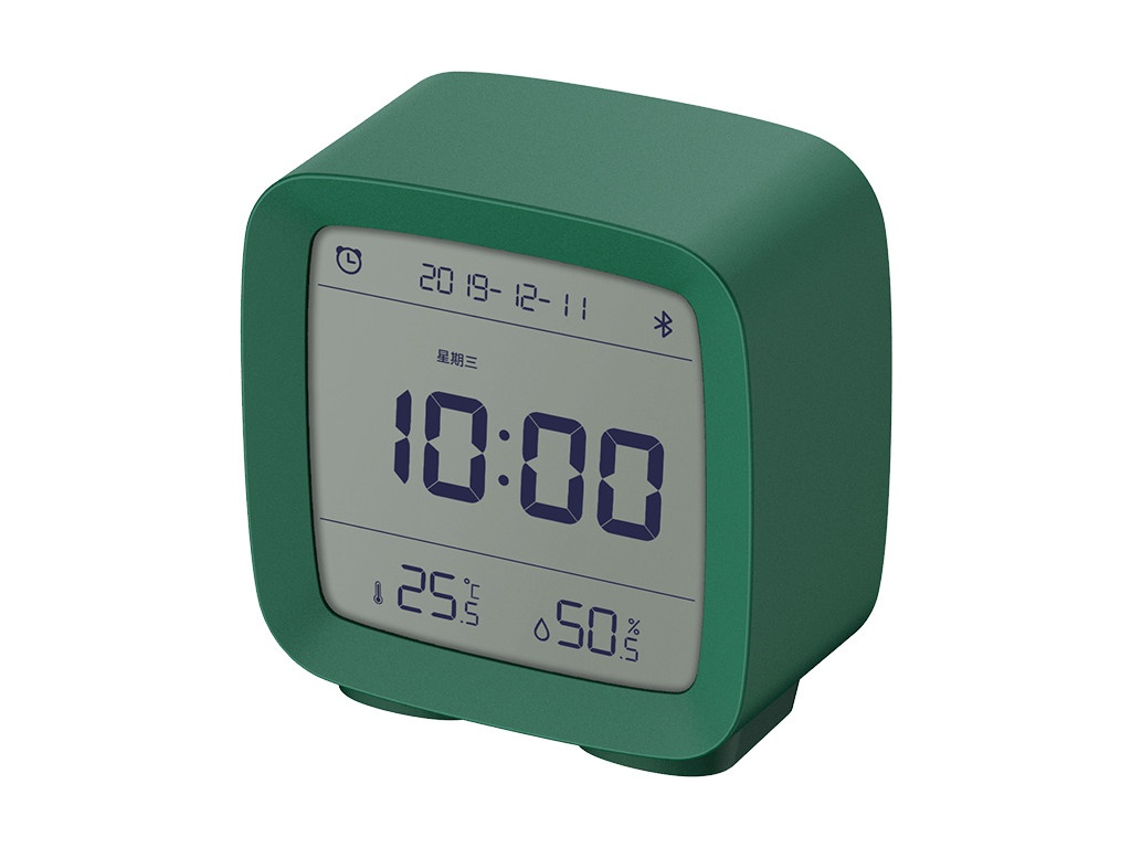 Часы Xiaomi ClearGrass Bluetooth Thermometer Alarm Clock CGD1 Green