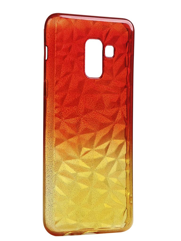 Чехол Krutoff для Samsung Galaxy J6 2018 SM-J600 Crystal Silicone Yellow-Red 12243