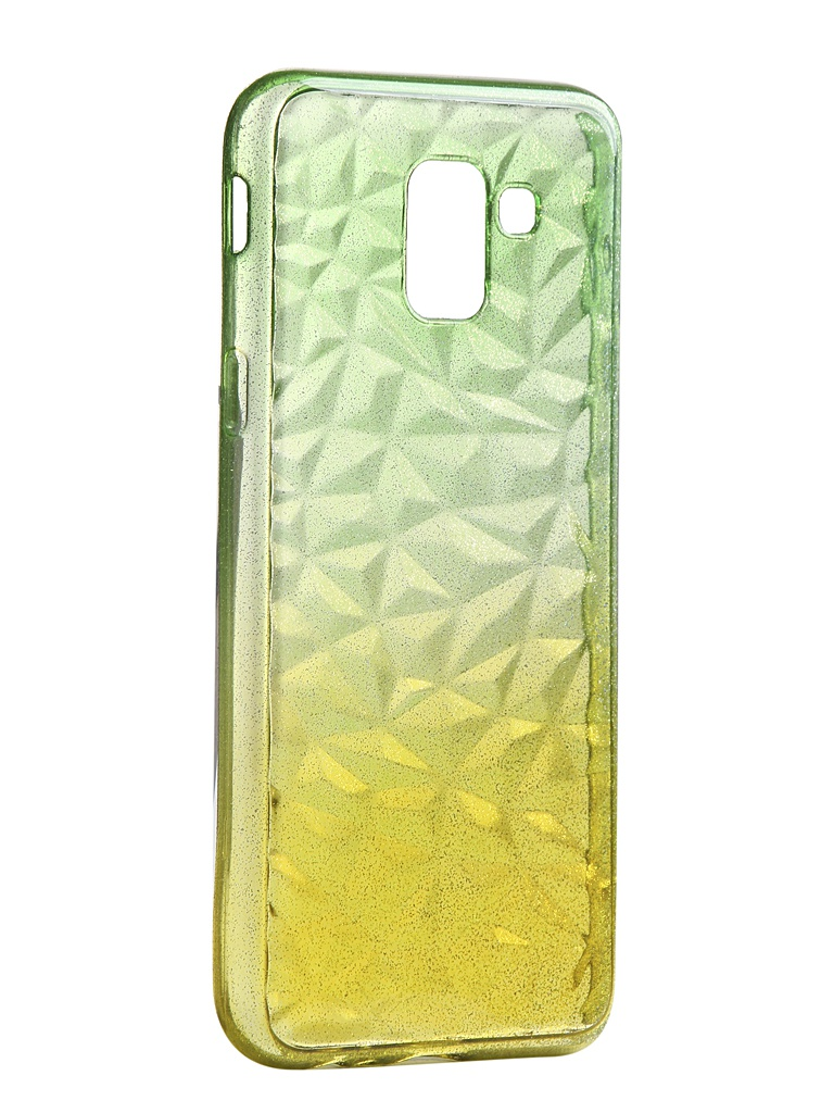 Чехол Krutoff для Samsung Galaxy J6 2018 SM-J600 Crystal Silicone Yellow-Green 12242
