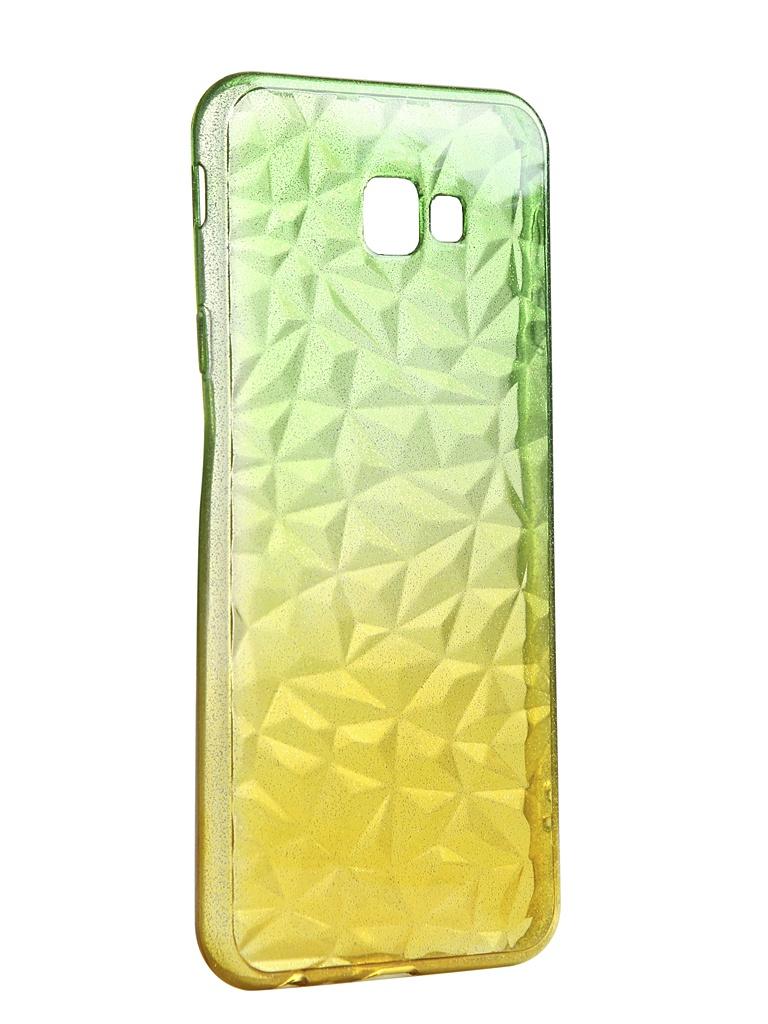 Чехол Krutoff для Samsung Galaxy J4 Plus SM-J415 Crystal Silicone Yellow-Green 12254