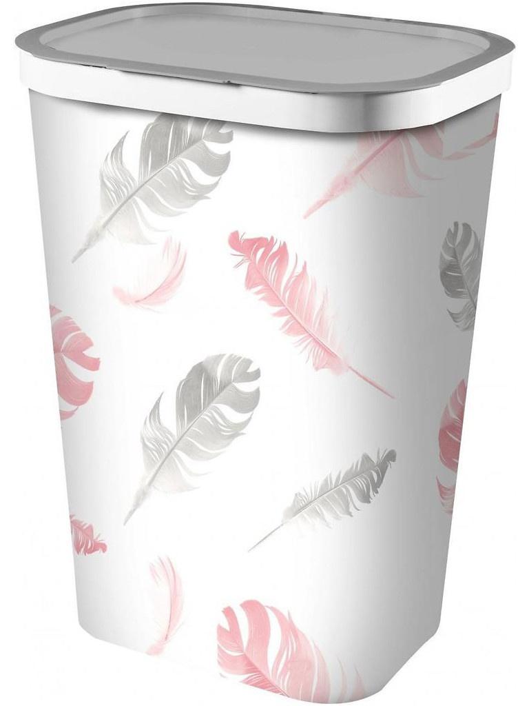 Корзина для белья Curver Infinity 60L Feathers 04761-F41-01