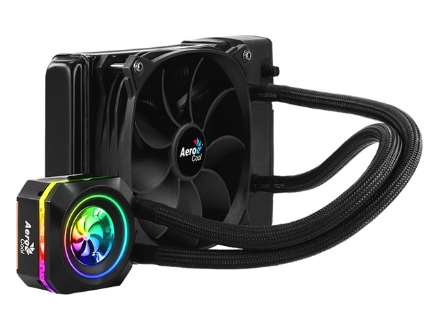 Водяное охлаждение AeroCool Pulse L120 RGB Black 4718009156296 (Intel LGA 2066/2011-V3/115X/1366/775 AMD FM1/FM2/AM4/AM3+/AM3/AM2+/AM2)