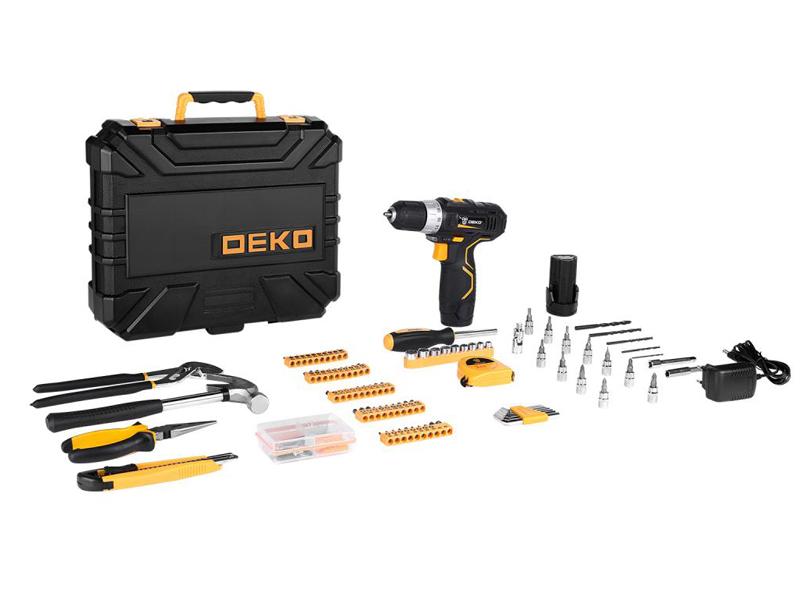 Фото - Электроинструмент Deko GCD12DU3 2x12V Li-Ion + набор 195 предметов 063-4134 электроинструмент deko gcd12du3 ser 4 в кейсе оснастка 13 шт 063 4140