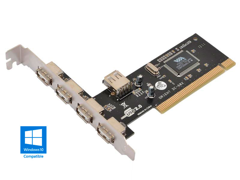 Контроллер Orient DC-602 PCI - 4ext+1int x USB2.0 oem 26687