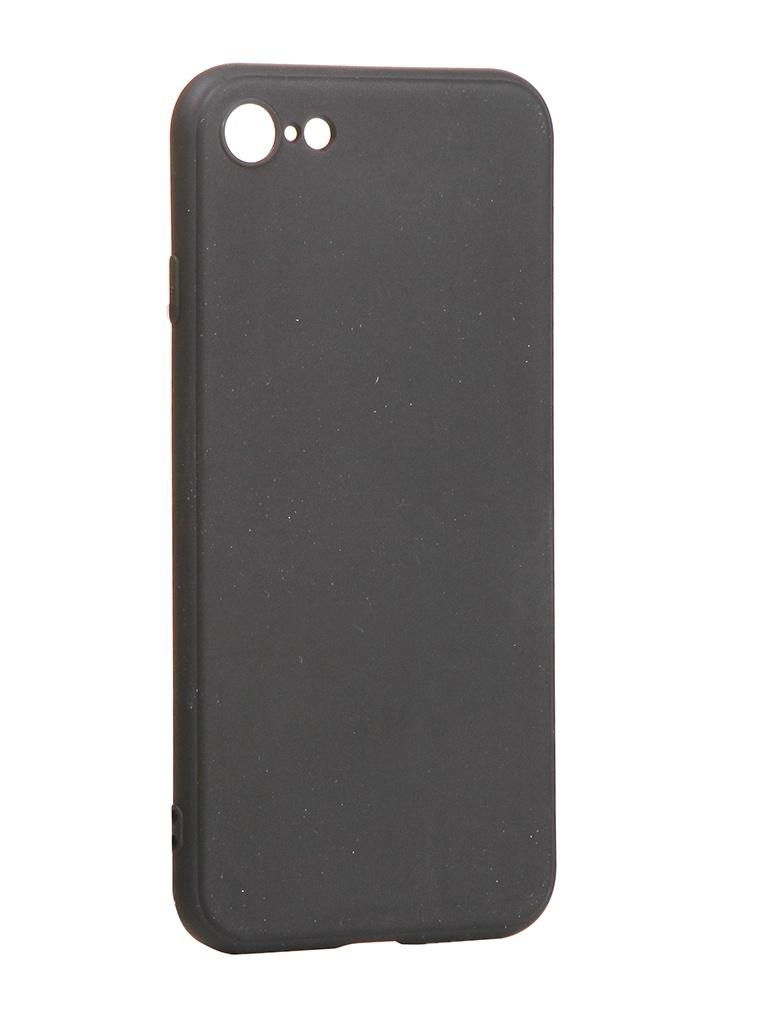 Чехол Brosco для APPLE iPhone SE 2020 TPU Matte Black IPSE(2020)-COLOURFUL-BLACK