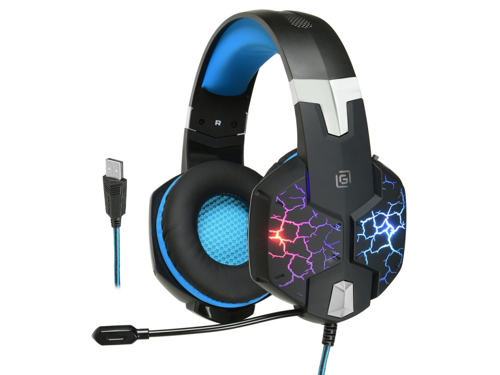 Наушники OKLICK HS-L930G SNORTER игровая гарнитура oklick hs l930g snorter черный синий hs l930g