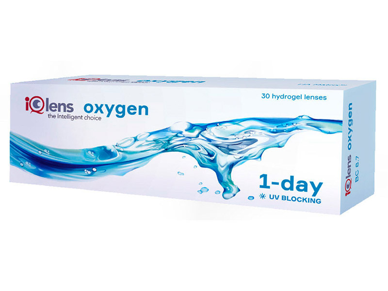 Контактные линзы iQlens Oxygen 1-Day (30 линз / 8.7 / -4.5)