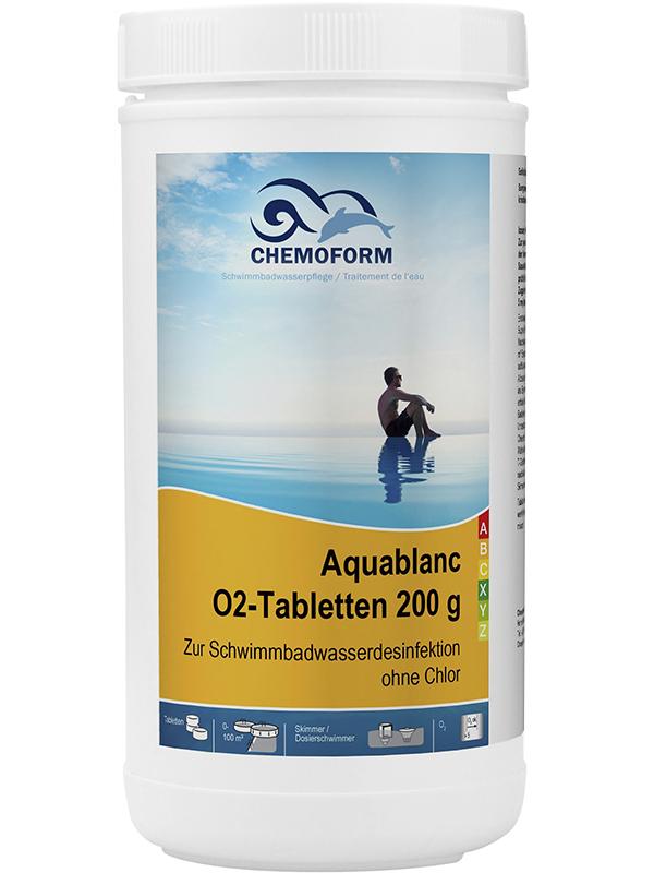 Активный кислород Chemoform Аквабланк О2 Таблетки 200g 1kg 0592001