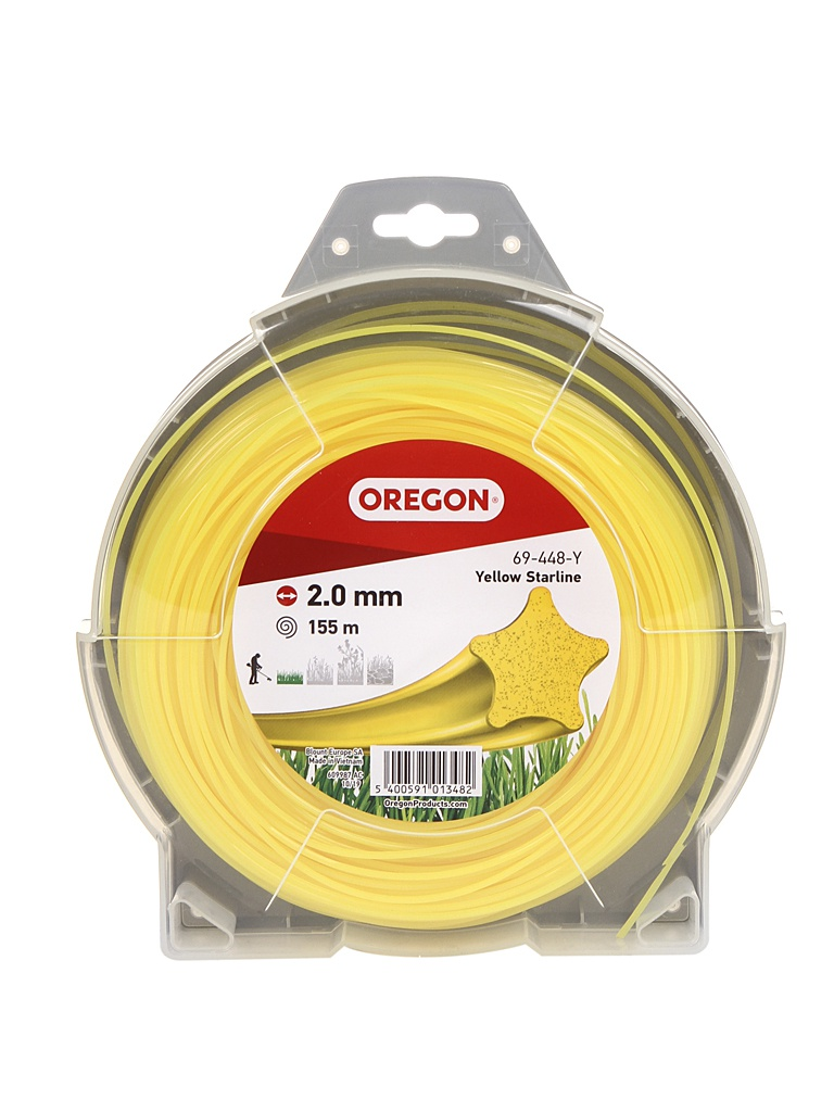 Леска для триммера Oregon Yellow Starline 2mm x 155m 69-448-Y