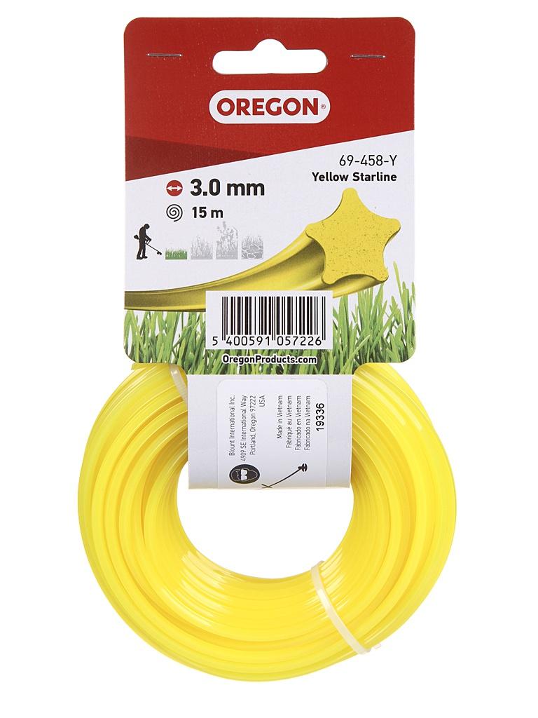 Леска для триммера Oregon Yellow Starline 3mm x 15m 69-458-Y