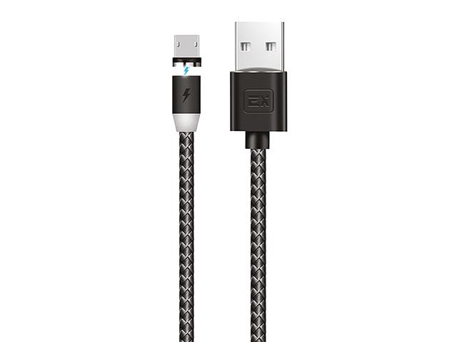 Аксессуар Exployd Classic Magnetic USB - MicroUSB 2m Black EX-K-949