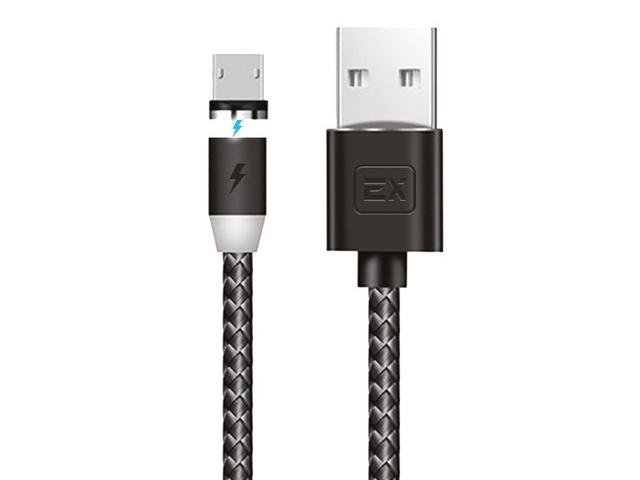 Аксессуар Exployd Classic Magnetic USB - MicroUSB 1m Black EX-K-780