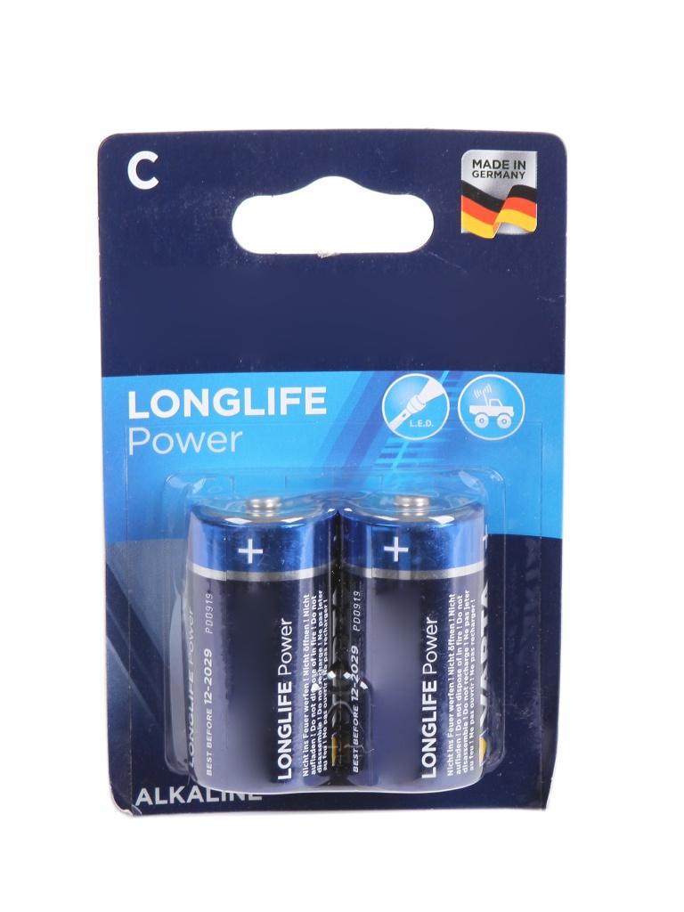 Батарейка C - Varta Longlife Power 4914 LR14 (2 штуки) VR LR14/2BL LON PW