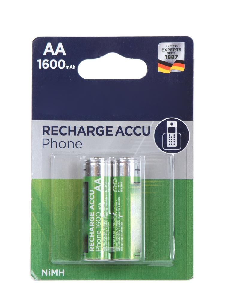 Аккумулятор AA - Varta Phone Power 1600 mAh (2 штуки) VR AA1600mAh/2BL Phone PW