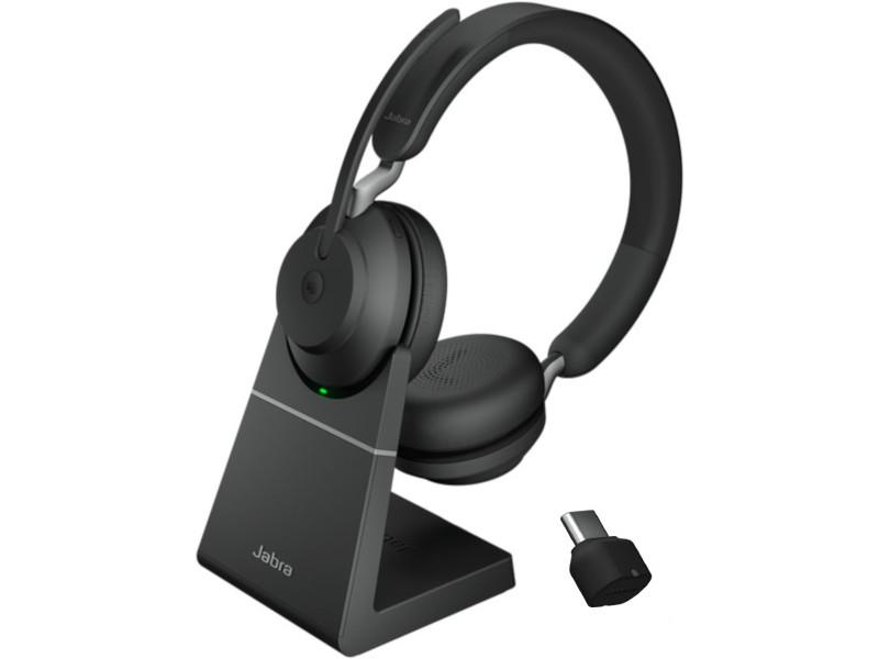 Наушники Jabra Evolve2 65 Link380c MS Stereo Stand Black 26599-999-889 наушники jabra evolve2 65 link380c uc stereo stand black 26599 989 889