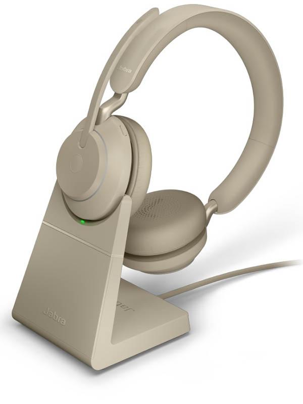 Наушники Jabra Evolve2 65 Link380c MS Stereo Stand Beige 26599-999-888 наушники jabra evolve2 65 link380c uc stereo stand black 26599 989 889