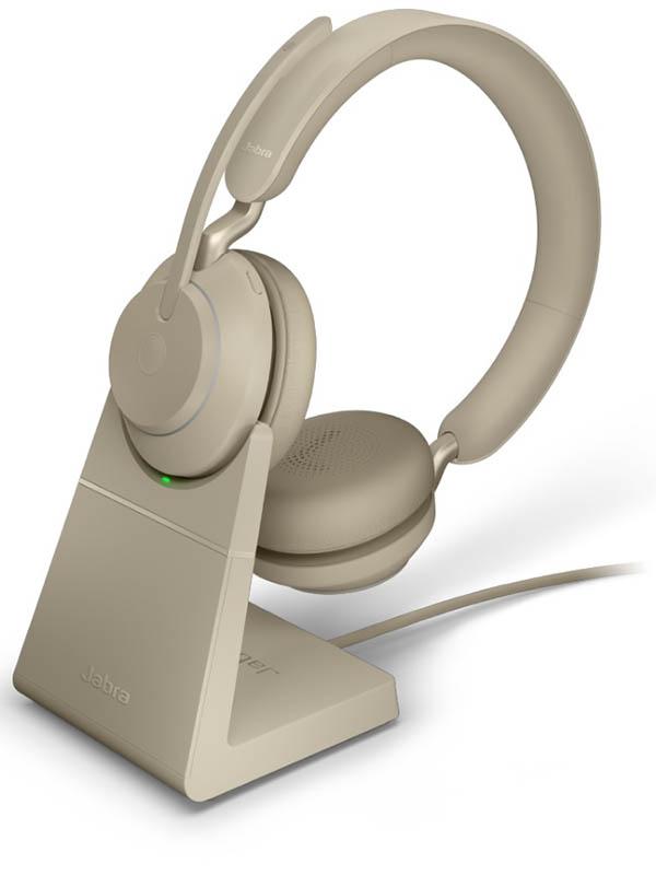 Наушники Jabra Evolve2 65 Link380c UC Stereo Stand Beige 26599-989-888 наушники jabra evolve2 65 link380c uc stereo stand black 26599 989 889