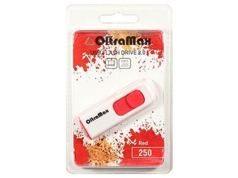 USB Flash Drive 32Gb - OltraMax 250 OM-32GB-250-Red