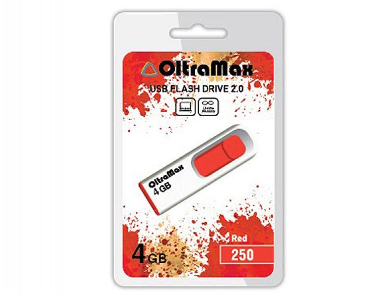 USB Flash Drive 4Gb - OltraMax 250 OM-4GB-250-Red