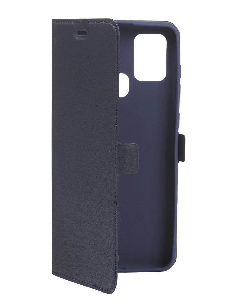 Чехол DF для Samsung Galaxy A21s Blue sFlip-68