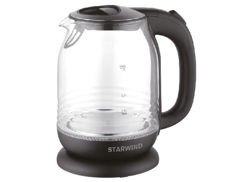Чайник Starwind SKG1311 1.7L Black-Silver
