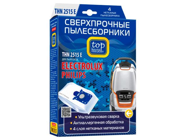 Сверхпрочные пылесборники Top House THN 2515 E с антибактериальной обработкой 4шт 392463