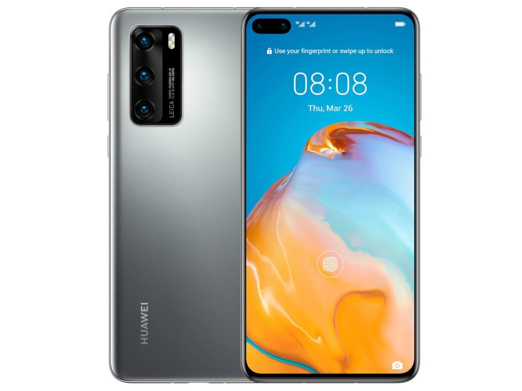 Фото - Сотовый телефон Huawei P40 8/128Gb Silver Frost Выгодный набор для Selfie + серт. 200Р!!! сотовый телефон huawei p40 lite 6 128gb crush green